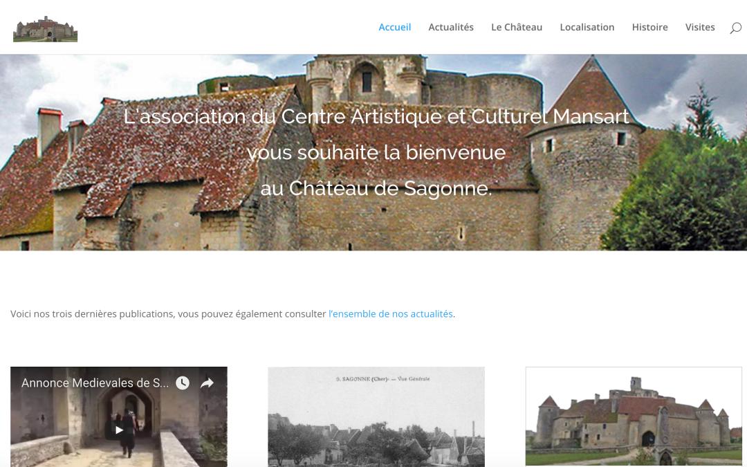Nouveau site Internet pour le Château de Sagonne