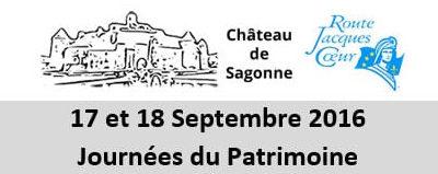 Journées du Patrimoine les 17 et 18 septembre 2016 au Château de Sagonne.